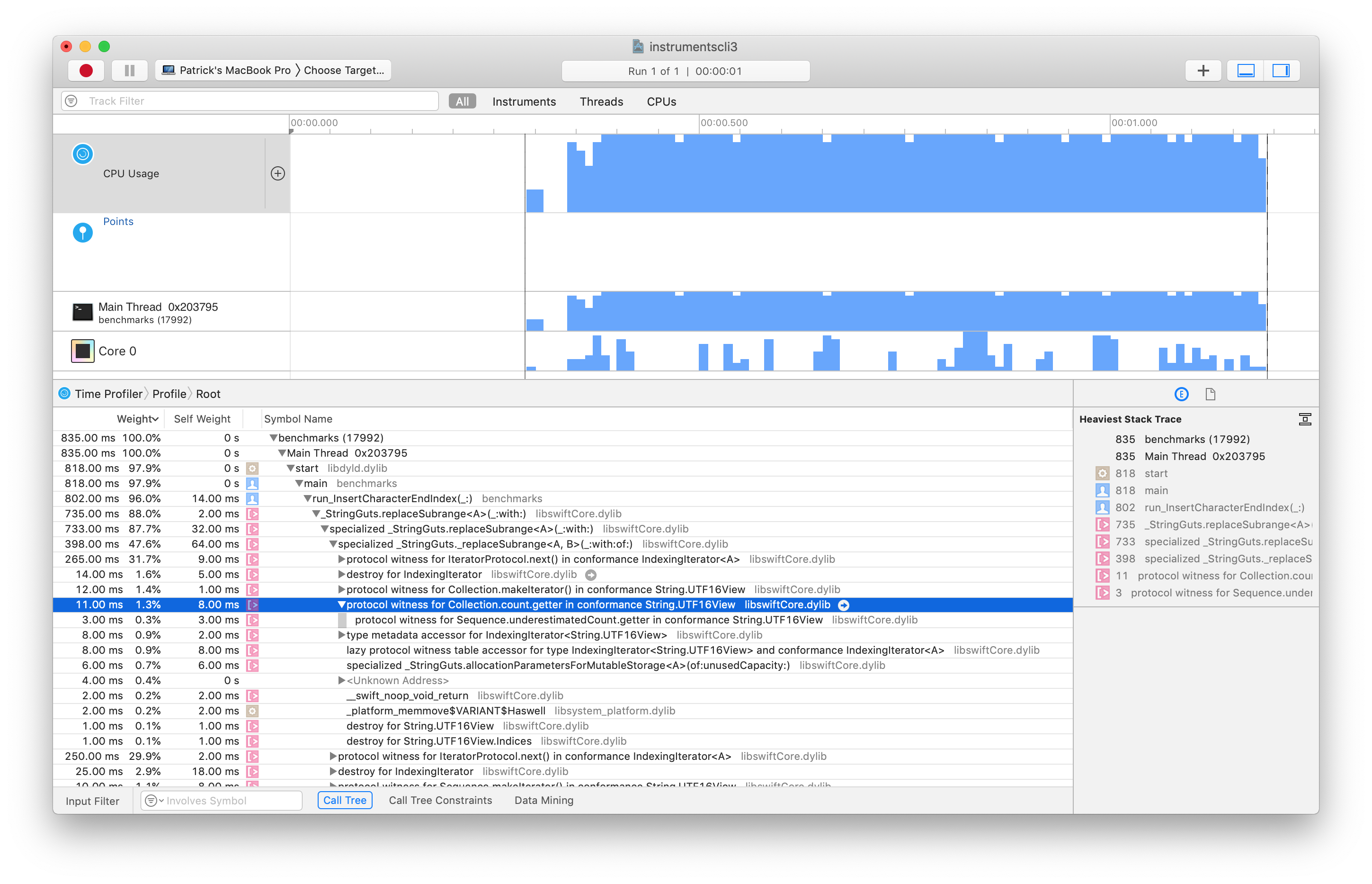 Contributing to the Swift Benchmark Suite · Patrick Balestra